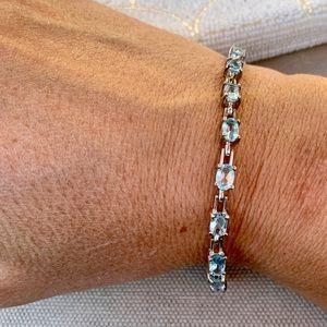 Ross-Simons blue topaz tennis bracelet